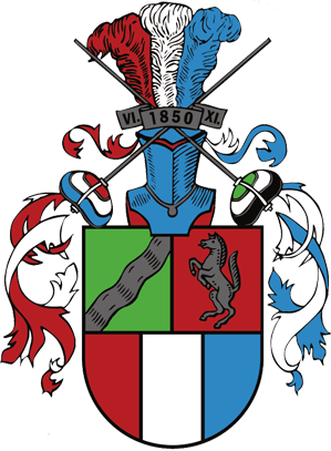Wappen Studentenverbindung Rhenania Münster Wohngemeinschaft WG WWU Westfälische Wilhelms Universität Party